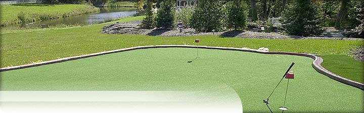Putters Edge Custom Putting Greens: Golf Putting Green Turf
