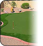 Putters Edge outdoor home putting greens - the perfect luxury golf gift for golfers