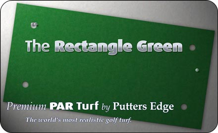 The Rectangle Green by Putters Edge™ portable putting greens