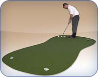 PAR Turf by Putters Edge - Top grade sophistication in synthetic putting turf for golf practice.